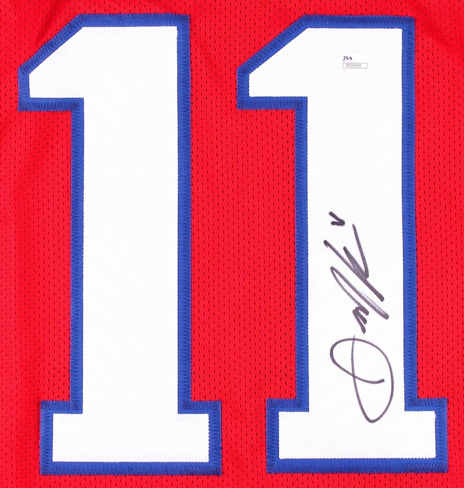 finest selection ad4a2 f7d67 Julian Edelman Signed Patriots Throwback Jersey (JSA COA)