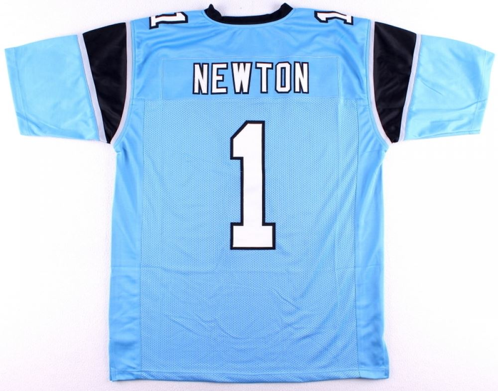 wholesale dealer b763d 5a14f Cam Newton Panthers On-Field Style Custom Stitched Jersey ...