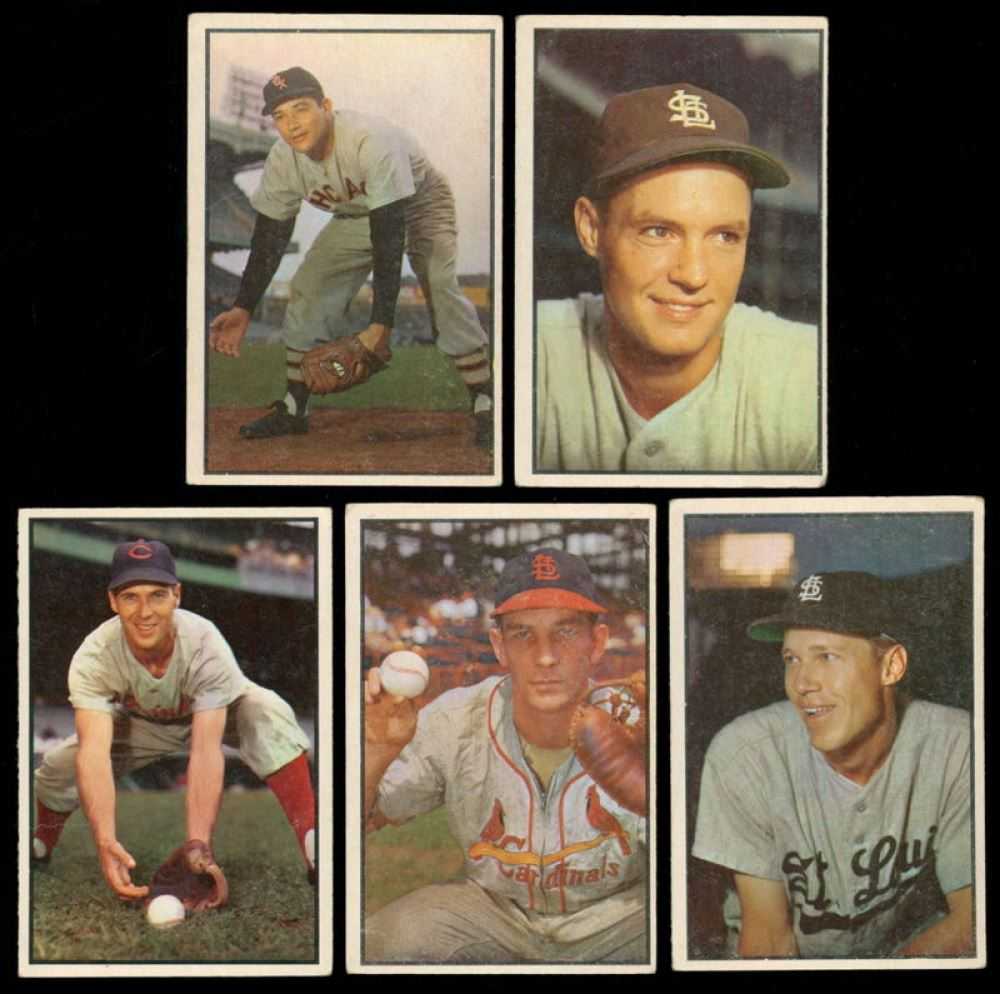 Lot Of 5 1953 Bowman Baseball Cards With Chico Carrasquel 54