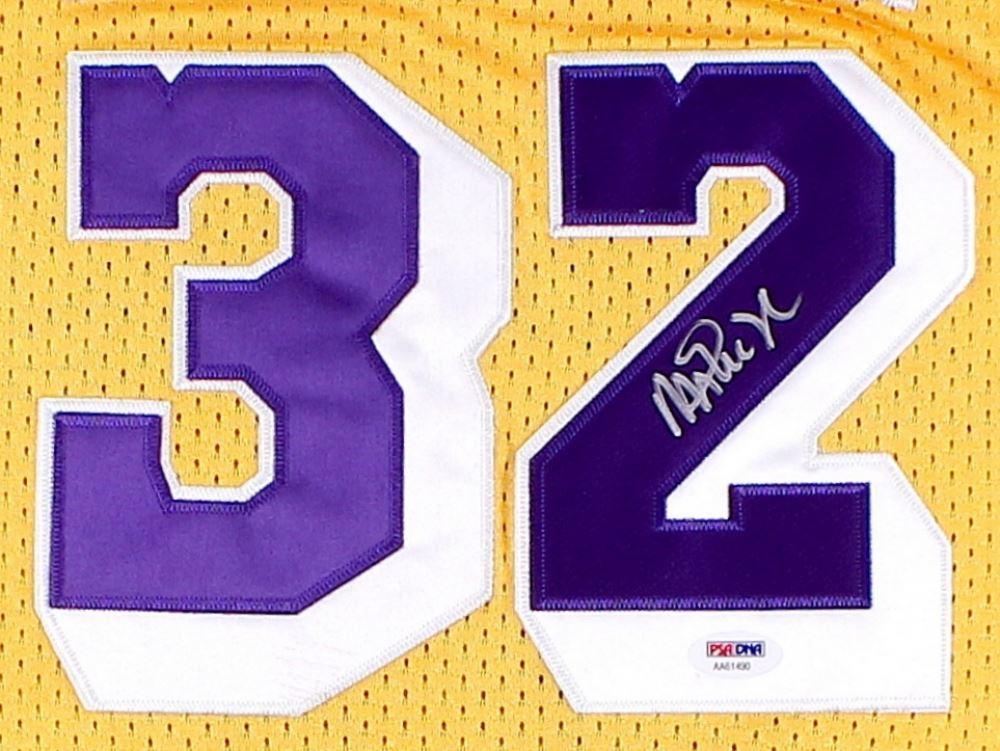 c5b2a4e0cf33 ... Image 2   Magic Johnson Signed Lakers Jersey (PSA COA) ...
