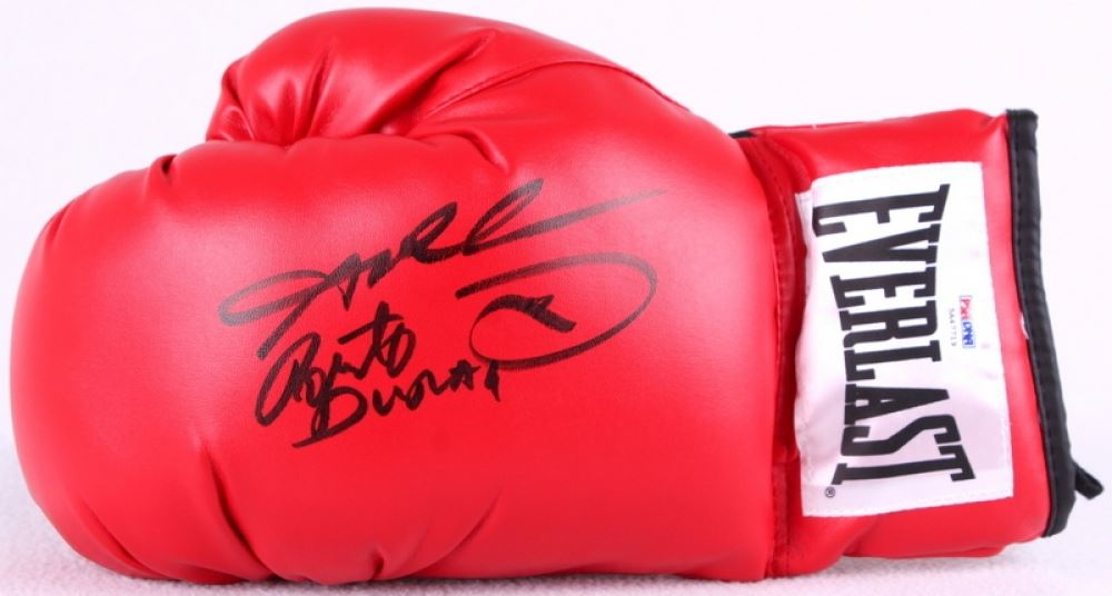6f866d1a7cc ... Image 2   Sugar Ray Leonard   Roberto Duran Signed Everlast Boxing Glove  with Display Case ...