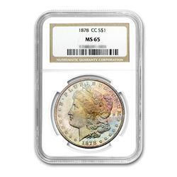 1878-CC $1 Morgan Silver Dollar NGC MS65