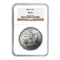 1880-CC $1 Morgan Silver Dollar - NGC MS65