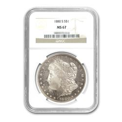 1880-S $1 Morgan Silver Dollar - NGC MS67