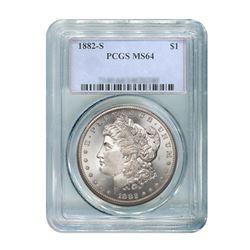 1882 $1 Morgan Silver Dollar - PCGS MS64