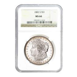 1882-S $1 Morgan Silver Dollar - NGC MS66