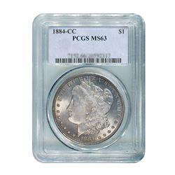1884-CC $1 Morgan Silver Dollar - PCGS MS63