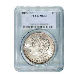 1885-CC $1 Morgan Silver Dollar - PCGS MS64
