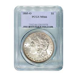 1885-O $1 Morgan Silver Dollar - PCGS MS66
