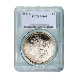 1887-S $1 Morgan Silver Dollar - PCGS MS64