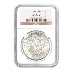 1889-S $1 Morgan Silver Dollar NGC MS64