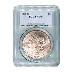 1890-S $1 Morgan Silver Dollar - PCGS MS64