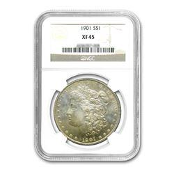 1901 $1 Morgan Silver Dollar - NGC XF45