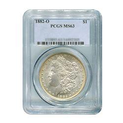 1882-O Over S $1 Morgan Silver Dollar - PCGS MS63