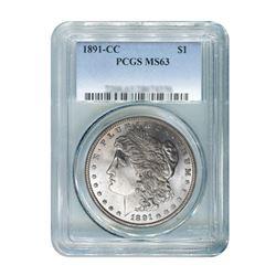 1891-CC $1 Morgan Silver Dollar - PCGS MS63
