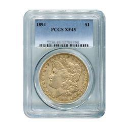1894 $1 Morgan Silver Dollar - PCGS XF45
