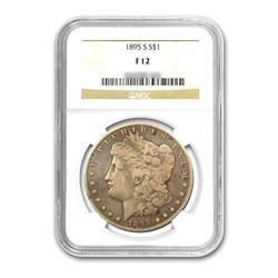 1895-S $1 Morgan Silver Dollar - NGC F12