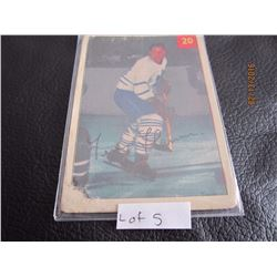 1953-54 Luckey Premium Card Toronto # 20