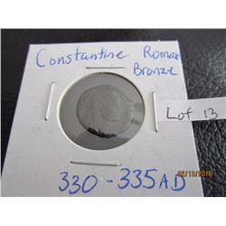Roman Bronze coin Bible Times (11) Constantine AD 330-335