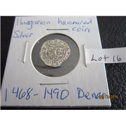 Sliver Hungarian hammard coin (11) 1468-1490 Denan