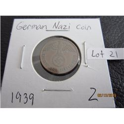 German Nazi Coin 1939 WW2 (2)