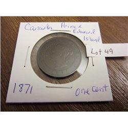 1871 Canada Prince Edward Island one cent