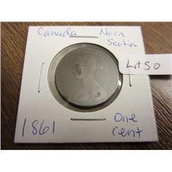 1861 Canada Nova Scotia one cent