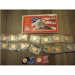 (16) uncirculated 2000-2007 D's and P's Pennies