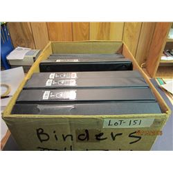 1 box full of brand new binders, 5 medium size,4 small. Ideal for coin or stamp collecting