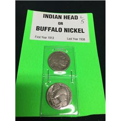 US 1913-1938 Indian Head & Buffalo Nickel