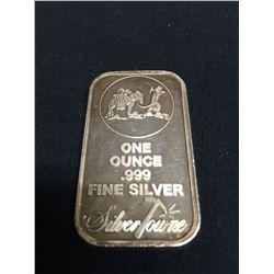 1 Ounce 0.999 Fine Silver Bar