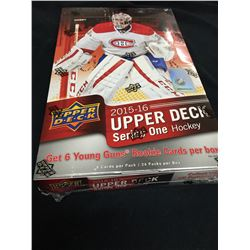 2015/16 Unopened, Sealed Box Upper Deck Series 1 (possible McDavid, Ehlers, Eichel & Domi Rookies)