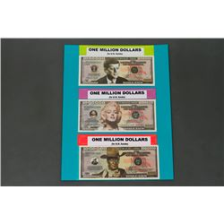 3 - U.S. One Million dollar banknotes