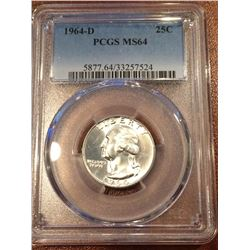 1964-D US 25Cent PCGS MS64