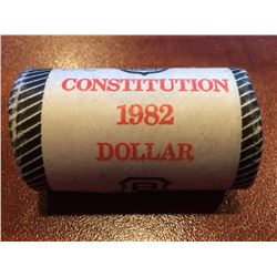 1982 Constitution Nickel Dollar Roll - Unopened Brinks Roll