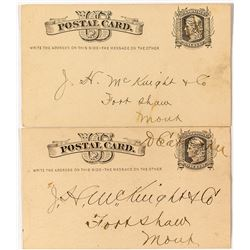 Two Early Second Period Dearborn Territorial Postal Cards