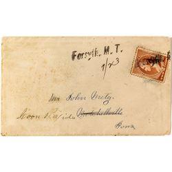 Forsyth, Rosebud Straight Line, Manuscript Cancel