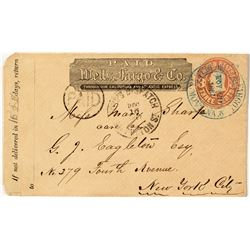 Helena Wells Fargo Cover with a Boyd's Dispatch Stamp