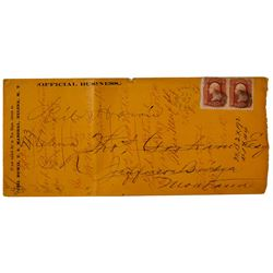 Very Interesting Helena, Montano Territorial Corner Cover from US Marshall Neil Howie