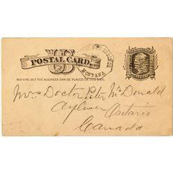 Hunters Hot Springs, Park Territorial Postal Card