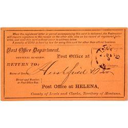 Lincoln, Lewis & Clark Rare Territorial Cancel