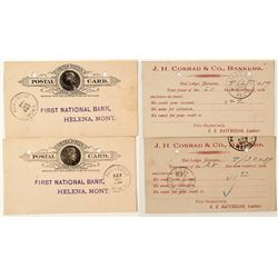 Two Red Lodge, Carbon Territorial Postal Cards