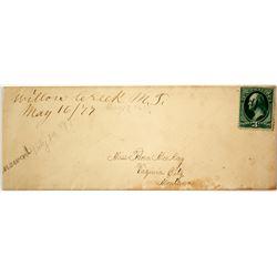 Early, Rare Willow Creek, Gallatin, Manuscript Territorial Cover