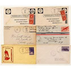 Six World War II Montana Naval Covers