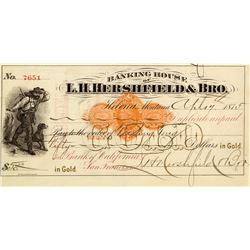 Hershfield & Bro. Banking House Revenue Check to Chinese Merchant
