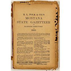 Montana State 1900 Directory
