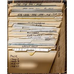 Wide Variety of Copied Montana Reference Materials