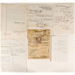 Montana Letter Collection: Secretary of State, Brands, Divorce, Forts, Gold Dust and More