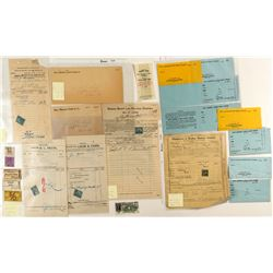 Montana Railroad Related Ephemera (Tickets, Receipts)