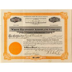 Pair of Rare Stock Certificates for White Equipoised Aeroplane Company